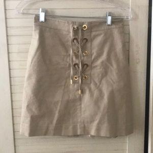 Michael Michael Kors lace up mini skirt